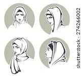 beautiful arabian girls...   Shutterstock .eps vector #274266002