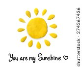 vector illustration of sun with ... | Shutterstock .eps vector #274267436