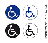 handicap sign vector set  | Shutterstock .eps vector #274267868