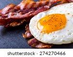 bacon and egg as english...   Shutterstock . vector #274270466