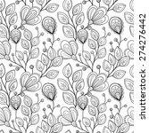 monochrome seamless pattern... | Shutterstock .eps vector #274276442