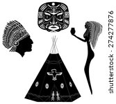silhouettes native american...   Shutterstock .eps vector #274277876