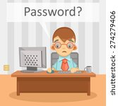 businessman needs password for...   Shutterstock .eps vector #274279406