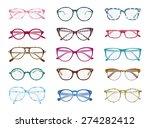 big set of vector isolated... | Shutterstock .eps vector #274282412