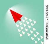 paper plane leader concept | Shutterstock .eps vector #274291832