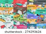 mega pack of flat style design...   Shutterstock .eps vector #274293626