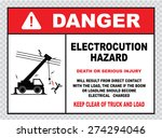 danger electrocution hazard or... | Shutterstock .eps vector #274294046