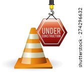 under construction design over... | Shutterstock .eps vector #274296632