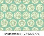seamless  chrysanthemum pattern ... | Shutterstock .eps vector #274303778