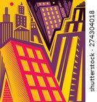 abstract real estate art ... | Shutterstock .eps vector #274304018