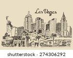 las vegas skyline  big city...   Shutterstock .eps vector #274306292