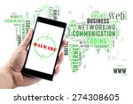 smartphone on hand shows ... | Shutterstock . vector #274308605