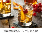 homemade old fashioned cocktail ... | Shutterstock . vector #274311452