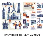travel infographic elements | Shutterstock .eps vector #274323506