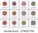 mandalas collection. round... | Shutterstock .eps vector #274327796