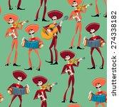 mariachi band. mexican... | Shutterstock .eps vector #274338182