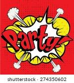 "Pop Art Comics Icon ""party ""...."
