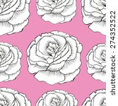 beautiful isolated vector rose...   Shutterstock .eps vector #274352522