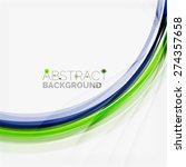 green and blue lines background ... | Shutterstock .eps vector #274357658