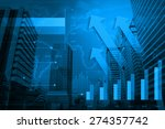 arrow head with financial chart ... | Shutterstock . vector #274357742
