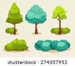 variety of spring tree set  ... | Shutterstock .eps vector #274357952