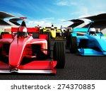 Car Race Showing Red Race Car...