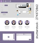 modern flat website template... | Shutterstock .eps vector #274372862