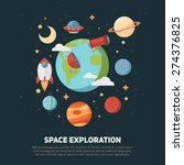 space theme banners and cards... | Shutterstock .eps vector #274376825