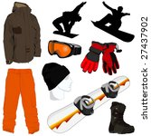 a collection of snowboarding... | Shutterstock .eps vector #27437902