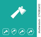 axe icon on flat ui colors with ...