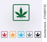 marijuana leaf icon | Shutterstock .eps vector #274385732