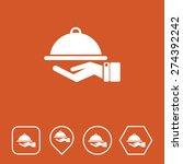 food service icon on flat ui...