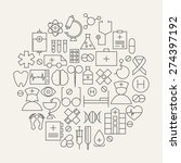 medical health care line icons... | Shutterstock .eps vector #274397192