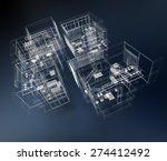 3d rendering of a transparent... | Shutterstock . vector #274412492