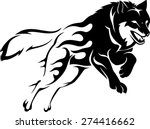 abstract flame leaping wolf | Shutterstock .eps vector #274416662