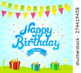 happy birthday card. vector... | Shutterstock .eps vector #274419458