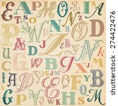 abc vintage background with... | Shutterstock . vector #274422476