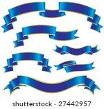 set of blue ribbons | Shutterstock .eps vector #27442957
