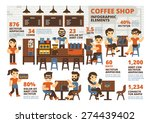 coffee shop infographic elements | Shutterstock .eps vector #274439402