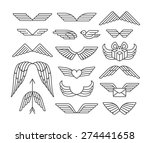 linear wings and icons'set. | Shutterstock .eps vector #274441658
