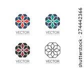 geometric logo template set.... | Shutterstock .eps vector #274442366