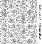 summer seamless natural pattern ... | Shutterstock .eps vector #274447346