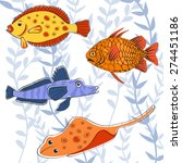 colorful fishes | Shutterstock .eps vector #274451186