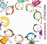 happy kids    Shutterstock .eps vector #274467686