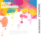 colorful poster templates with... | Shutterstock .eps vector #274469042