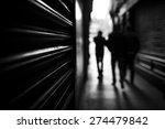 shadow people walking | Shutterstock . vector #274479842