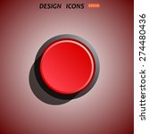 red button start  stop. icon.... | Shutterstock .eps vector #274480436