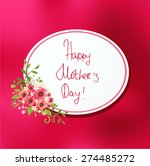 happy mother's day card | Shutterstock .eps vector #274485272