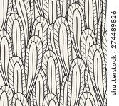 vector seamless pattern. hand... | Shutterstock .eps vector #274489826