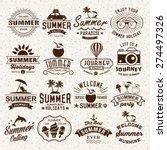 summer typography designs.... | Shutterstock .eps vector #274497326